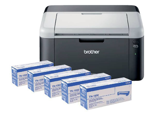 Laserprinter Brother HL-1212 + 4 extra toners TN-1050 1